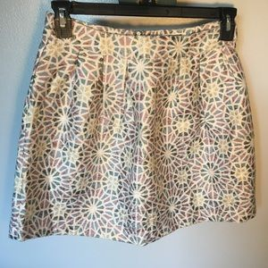 Francesca's Miami Shimmer Purple Blue Skirt Medium